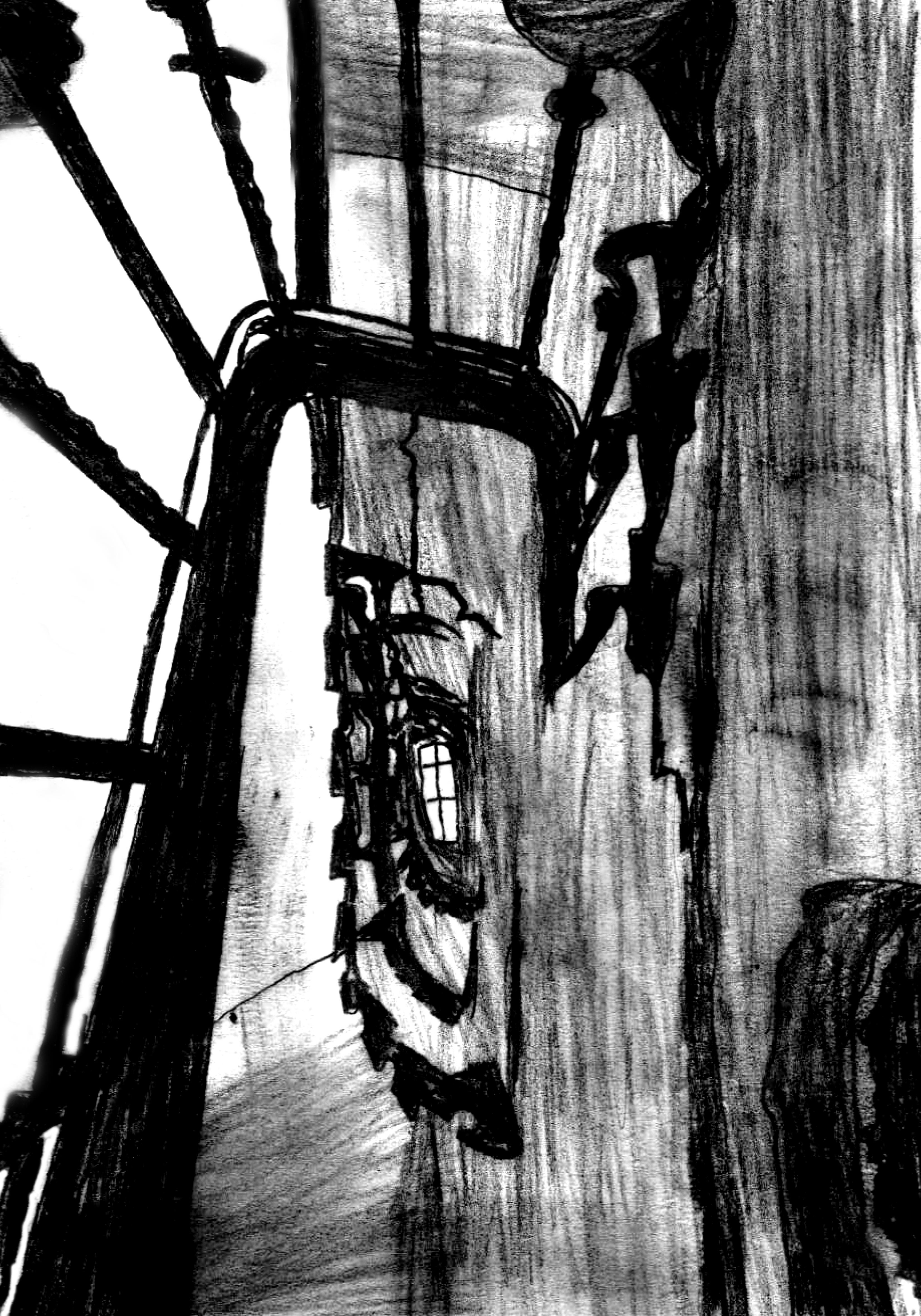 apartman merdiven boşluğu