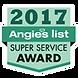 Angieslist 2017 Super Service Award Seal