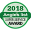 Angieslist 2018 Super Service Award Seal