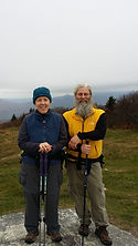 A picture of Mantelpeace's founder and his wife in the Green Mountains