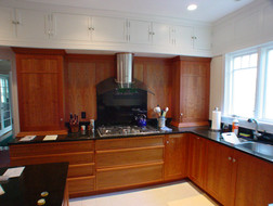 custom kitchen cabinetry in cherry