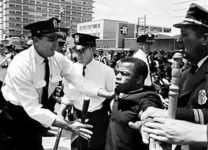 Lewis and police, Nashville, 1961, The T