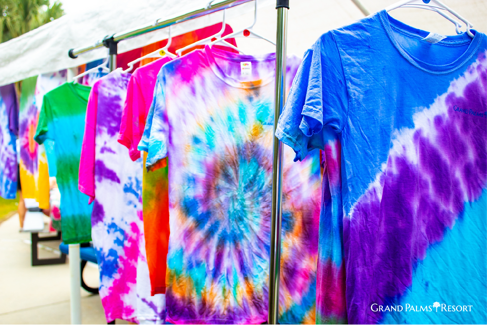 Enjoy your Myrtle Beach Vacation by creating Tie-Dye T-Shirts at Grand Palms Resort, formerly Plantation Resort.
