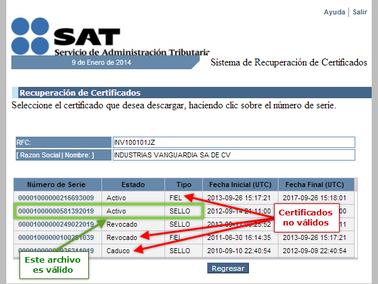 El SAT revoca Sellos Digitales a los contribuyentes