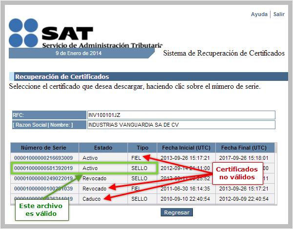 sellos digitales revocados por el SAT