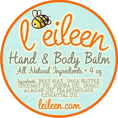 Hand & Body Balm 4 Ounce (Tax Included)