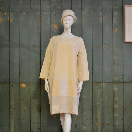 Vincent Jalbert Long Sleeve Patch Dress