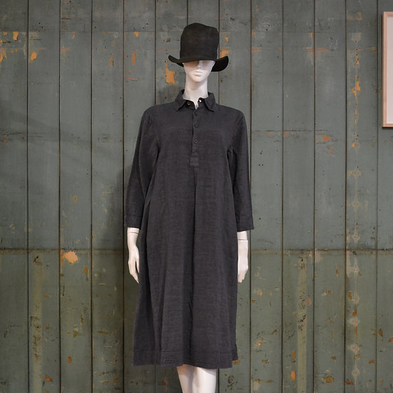 Chez Vidalenc Antique Linen Shirt Dress