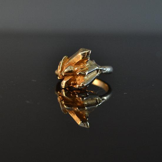René Talmon L'Armée Gold Crystal Ring