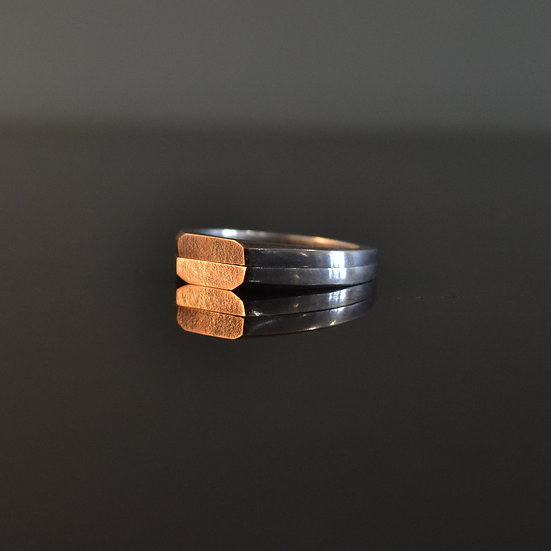 Monday's Child Empire Gold Facet Signet Ring