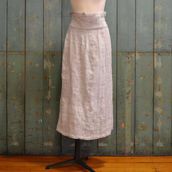 6x4 Linen Jacquard Wrap Skirt
