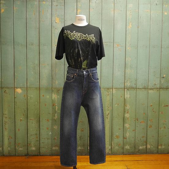 Junya Watanabe shaped fitted waist jeans