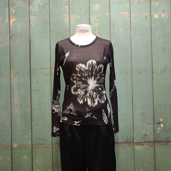 Y's Round Neck Long Sleeve T