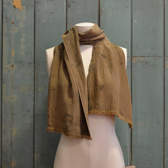 6x4 Natural-dyed Recycled Silk Scarf