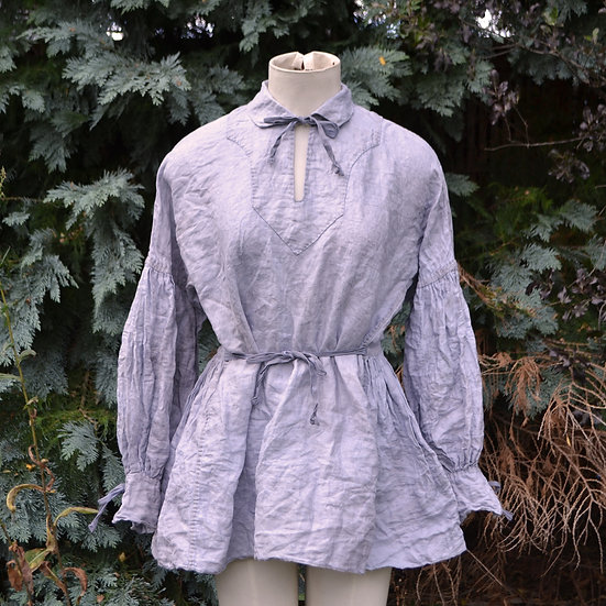 6x4 Hand Sewn Gathered Sleeve Blouse