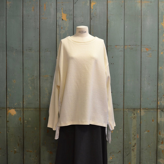 Y's Knit Front Top With Shirt Back
