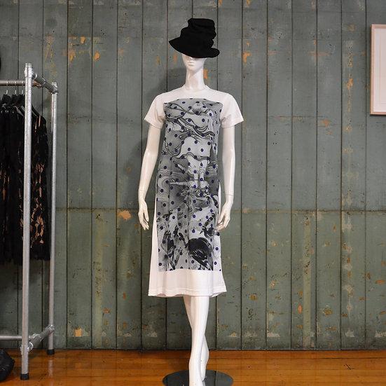 Comme des Garçons short sleeve print dress