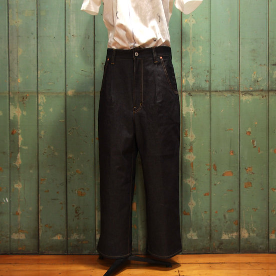 Junya Watanabe Pleat Front High Waisted Jeans