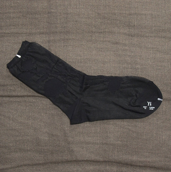 Y's Black Pomegranate Socks