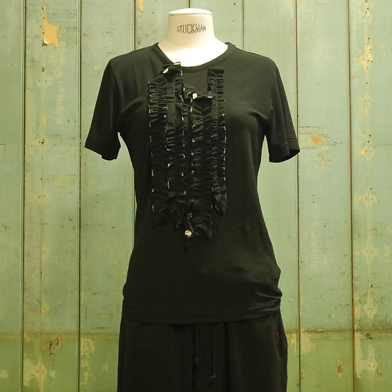 Y's Short Sleeve Frill Top