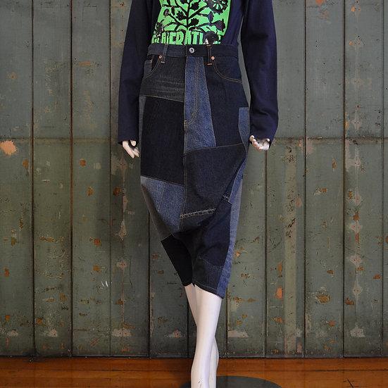 Junya Watanabe Denim Patchwork Culottes