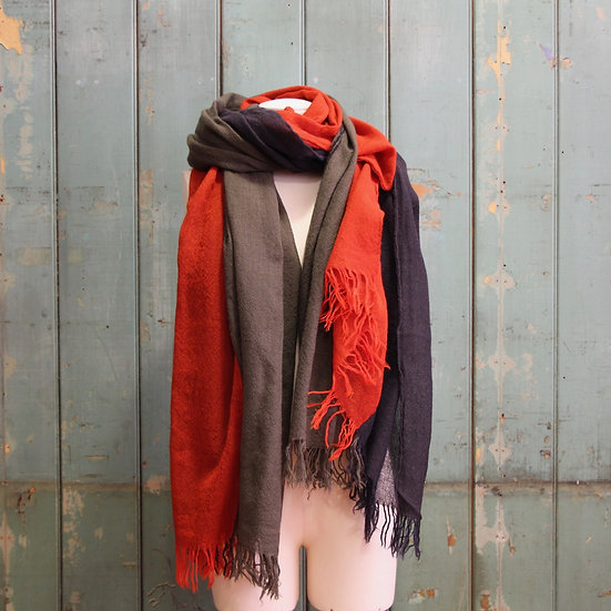 Y's Red Triple Layered Stole