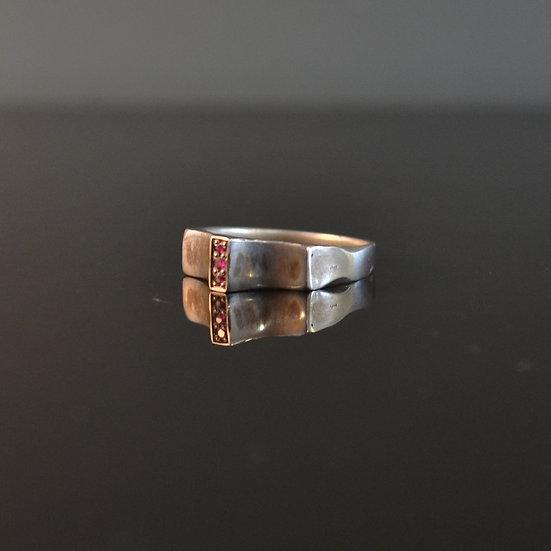 Monday's Child Ruby Trinity Stone Ring