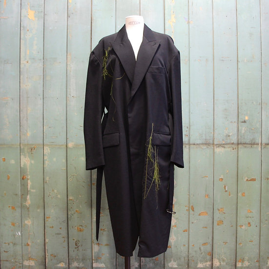 Y's Belted Coat with Green Stitching