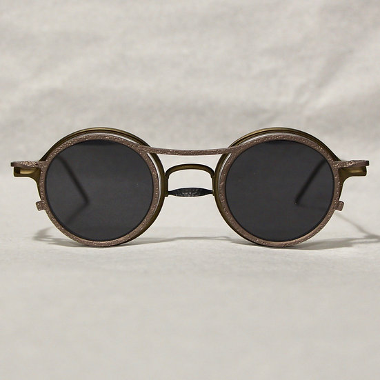 Rigards Brown Glasses with Grey Clip-on Sun Lenses