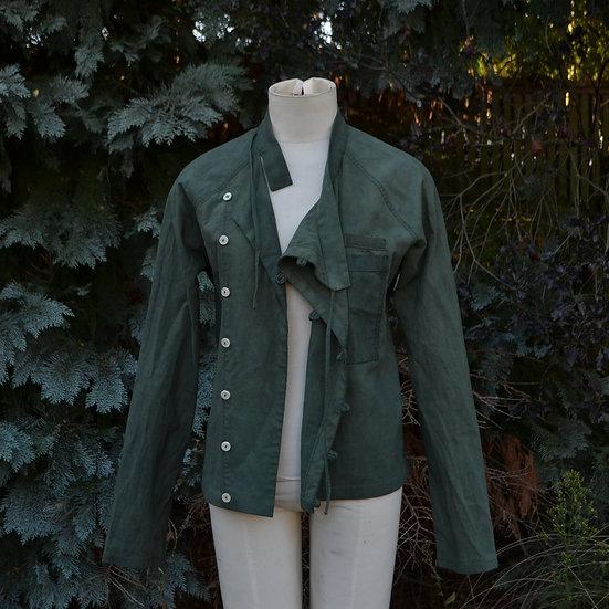 6x4 Vintage Cotton Asymmetric Jacket