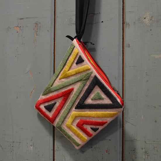 Vita Cochran Embroidered Zip Purse
