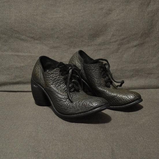 Christian Peau Black Lace-up Heels