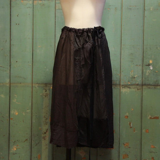 Being Patched Silk Drawstring Skirt