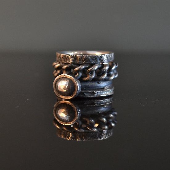René Talmon L'Armée Stacked Ring