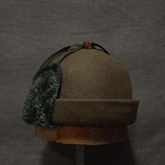 Horisaki Fur Felt Hat with Ear Flaps