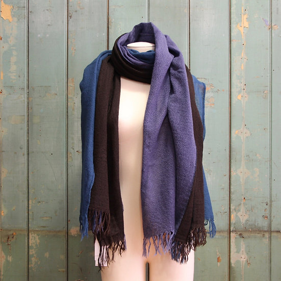 Y's Blue Triple Layered Stole