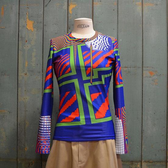 Junya Watanabe Demsky Pattern Top