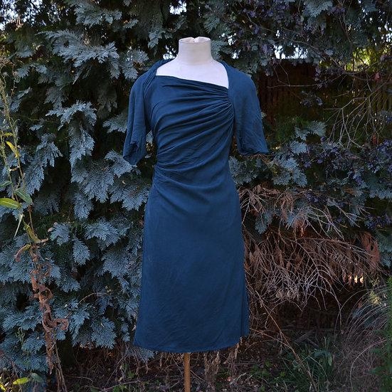 6x4 Asymmetric Draped Wrap Dress