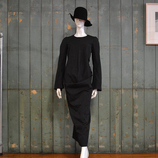 Comme des Garçons Flared-sleeve Centre-seam Dress