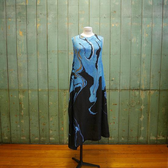 Y's Sleeveless Marble Print Dress