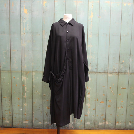 Y's Right Side Drape Shirt Dress