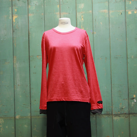 Y's Pig Round Neck Long Sleeve T