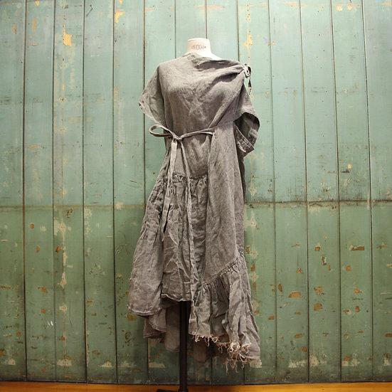 6x4 Gathered Linen Spiral Dress