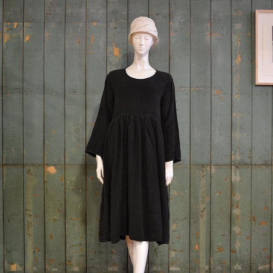 Vincent Jalbert Long Sleeve Pleated Waist Dress