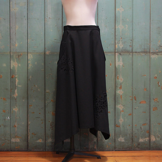 Y's Flare Skirt with Cutwork Embroidery