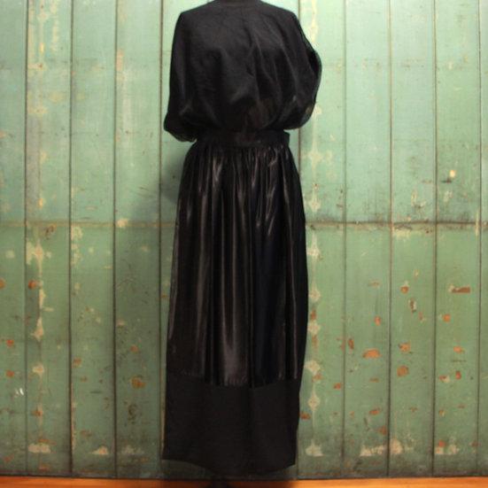 Junya Watanabe Satin Layered Wrap Skirt