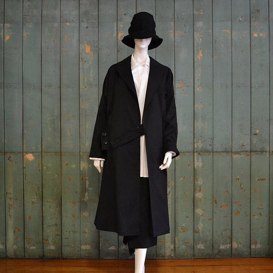 Y's Button Tab Trench Coat