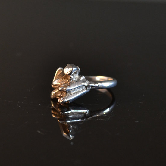 René Talmon L'Armée Silver Crystal Ring