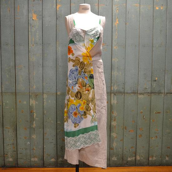 Junya Watanabe Layered Linen Wrap Dress