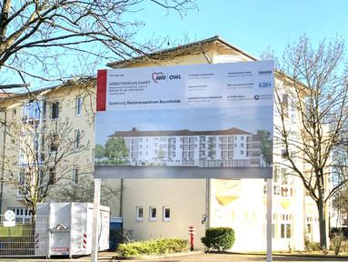 Sanierung Seniorenzentrum Baumheide in Bielefeld mit 87 Zimmern, Gemeinschaftsräumen u. Tagespflege